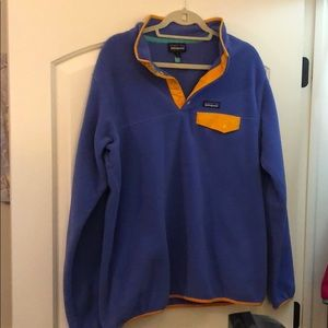 PATAGONIA SYNCHILLA LAVENDER GOLD FLEECE SNAP 1/4